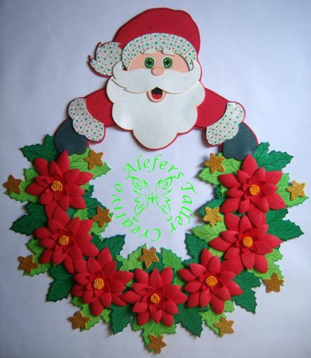 Cuadros de navidad en foami imagui for Decoraciones navidenas faciles de hacer