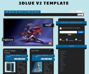 3Dlue V2 blogger template