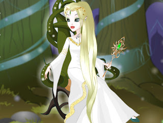 Juego de  moda y belleza de la reina elfa