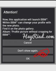 Simpan gambar dengan Aplikasi Profile wo crop for BBM