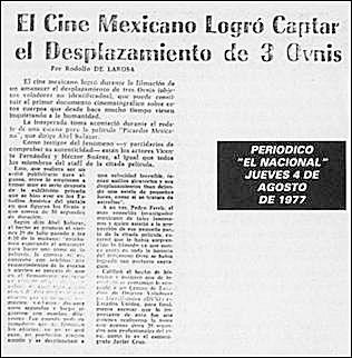 El Cine Mexicano Logra Captar El Desplazamiento De 3 Ovnis - El Nacional 8-4-1977