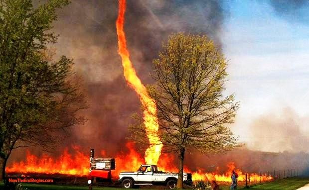 Dangerous Power of Nature : Best Photos Fire Tornado