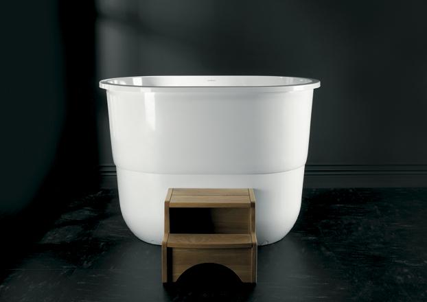 Baño Japones Tradicional: en el ofuro japonés tradicional, diseñadas para la inmersión total