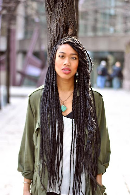 ... Inspiration, Food : [Protective styles]Box braids - My new hair style