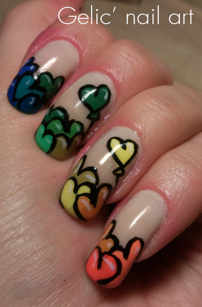 http://gelicnailart.blogspot.se/2014/02/rainbow-heart-balloon-funky-french.html