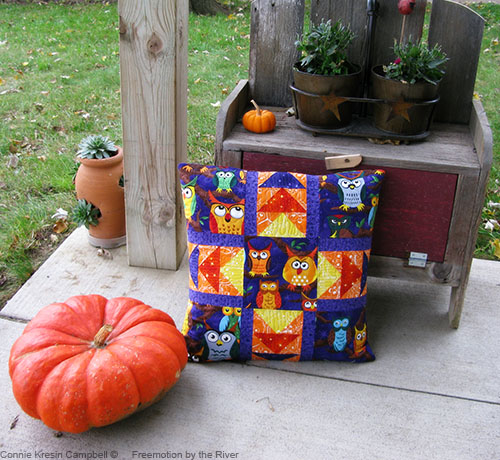 Pillow with a pumpkin