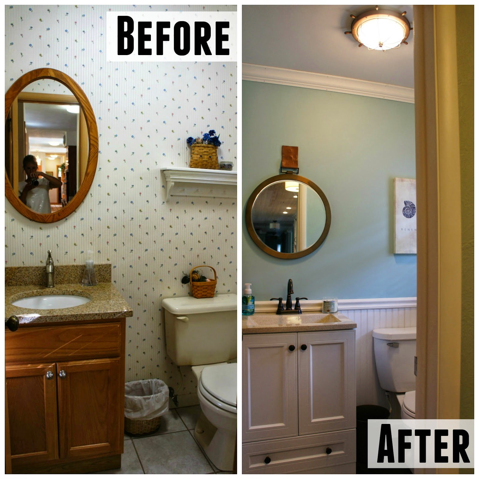 Before And After: Half Bath