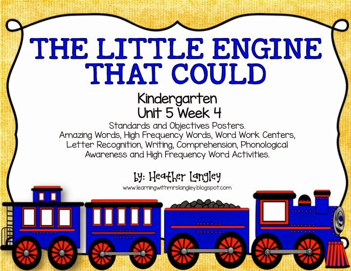 https://www.teacherspayteachers.com/Product/The-Little-Engine-That-Could-KINDERGARTEN-Unit-5-Week-4-1625479