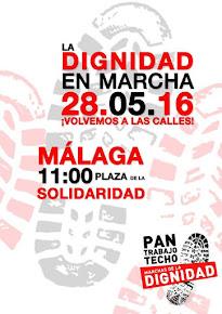 Manifestación de las Marchas de la Dignidad en Málaga