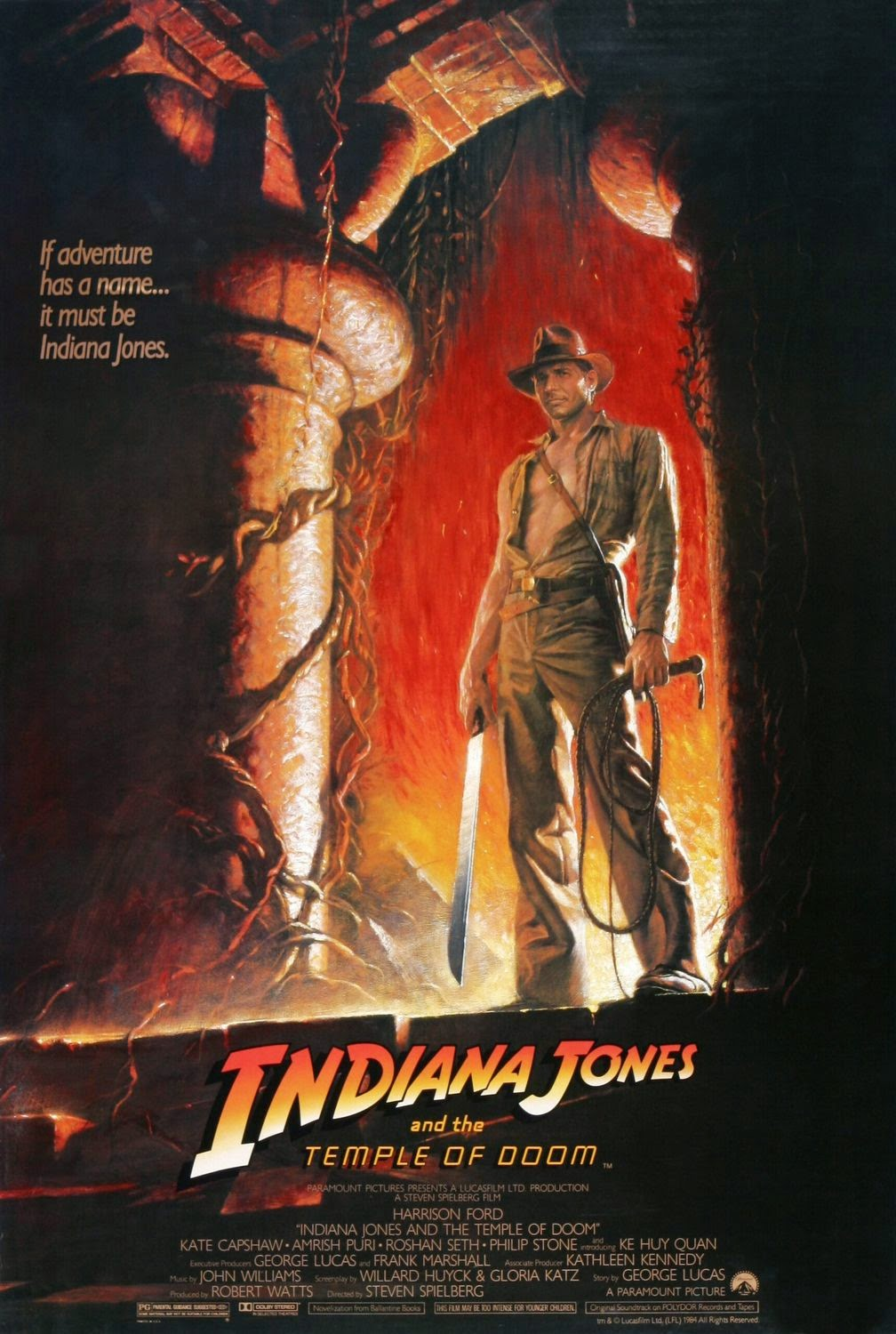 Indiana Jones and the Temple of Doom Teaser Poster