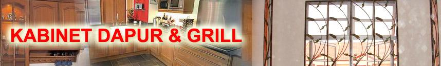 Tempahan kabinet dapur&gril rumah