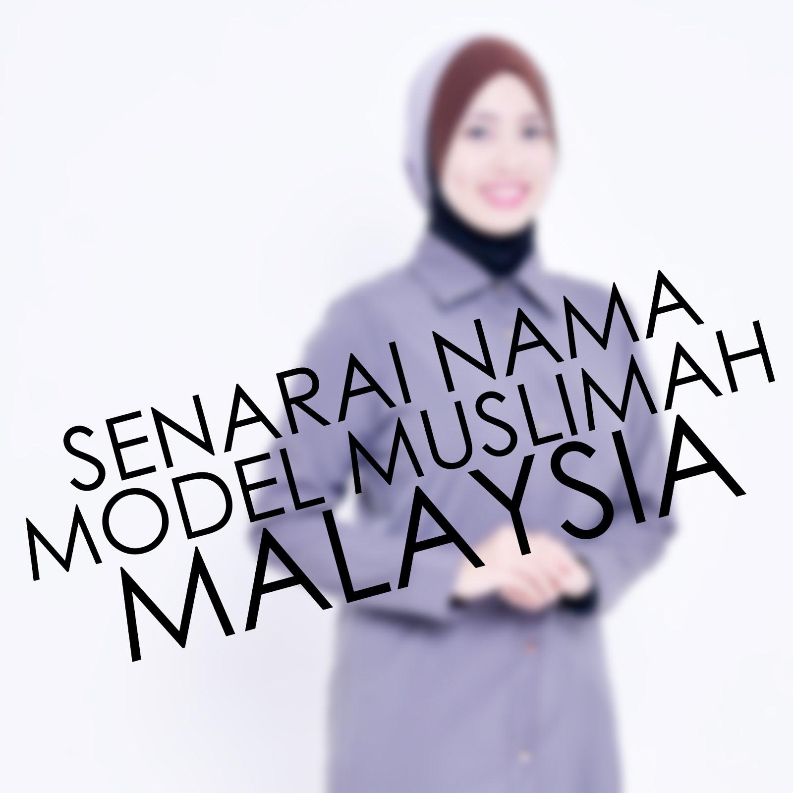 SENARAI MODEL MUSLIMAH