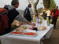 Esmorzant a l'entorn de Sant Genís Sadevesa