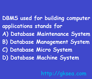 DBMS stands for Computer question