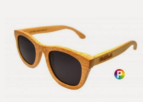 Gafas de sol de madera color natural