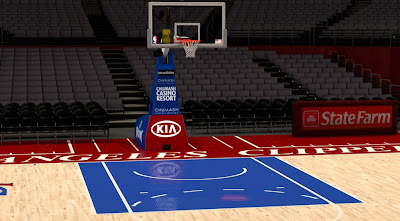 NBA 2K14 Los Angeles Clippers Court Mod