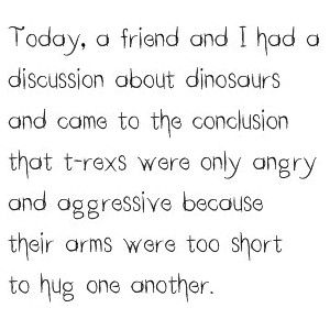 A Great Discussion With A Friend, Talk About Dinosaurs Behavior