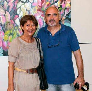 Con Mercedes Galindo (Pintora)