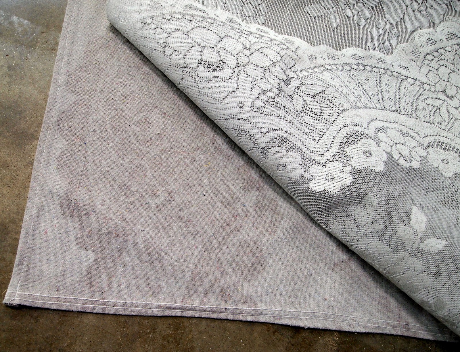 lace stencil curtains