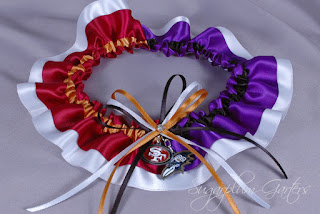 Superbowl 2013 San Francisco 49ers/Baltimore Ravens commemorative garter