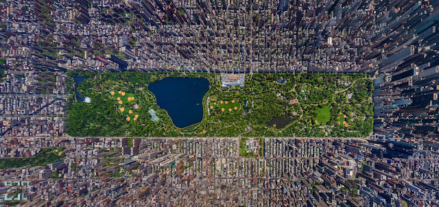 The Atlantic, what you're looking at is aerial photos stitched together to form one huge 3D panorama of Central Park. Russian photographer Sergey Semonov won first place in the amateur category at the Epson International Photographic Pano Awards for this near unbelievable photo.