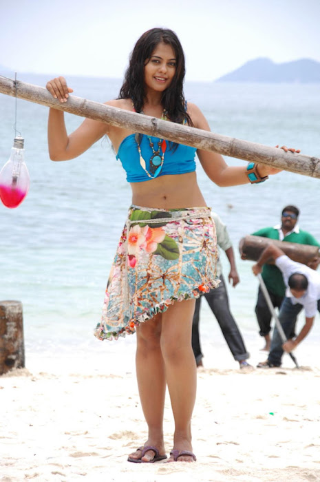 bindu madhavi in spicy beach song hot images
