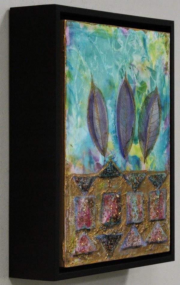mixed media metallic painting