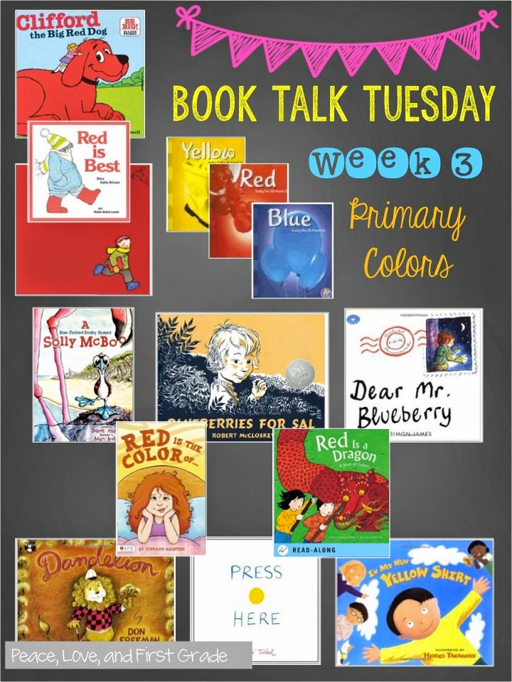 30 Books to Celebrate Color!   Peace, Love, and First Grade
