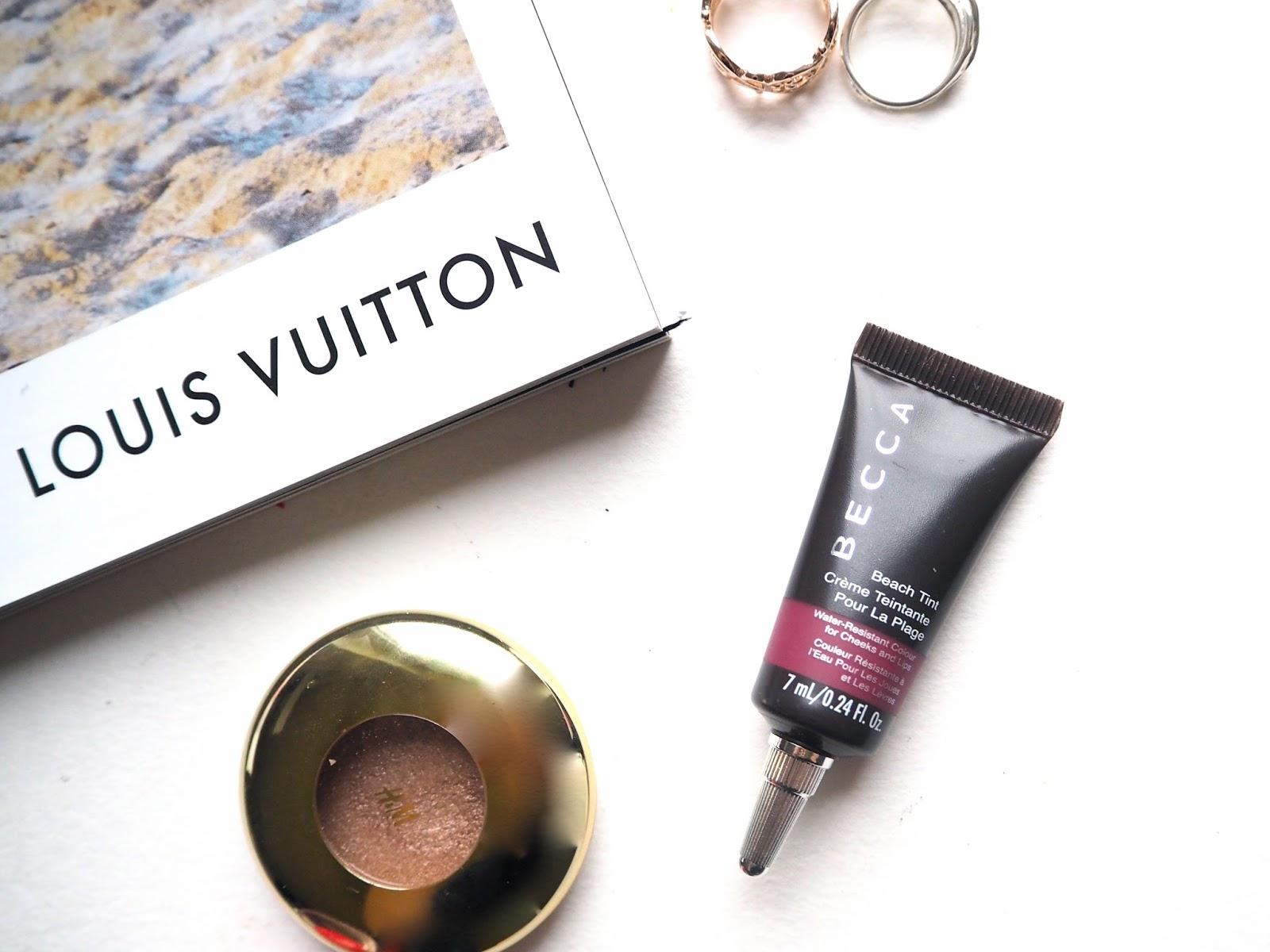 A Little Beauty Haul, foundation, bourjois healthy mix, eyeshadow, inglot, hm, paradise lost, becca beach tint, raspberry, nxy blush, cinnamon, haul