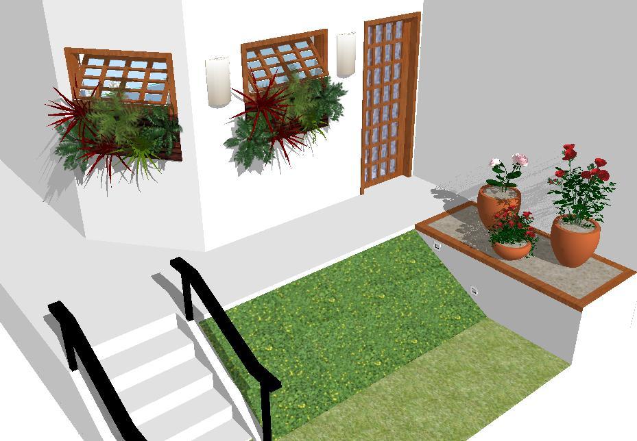 Arquitetura do Interior JARDIM em DIAGONAL