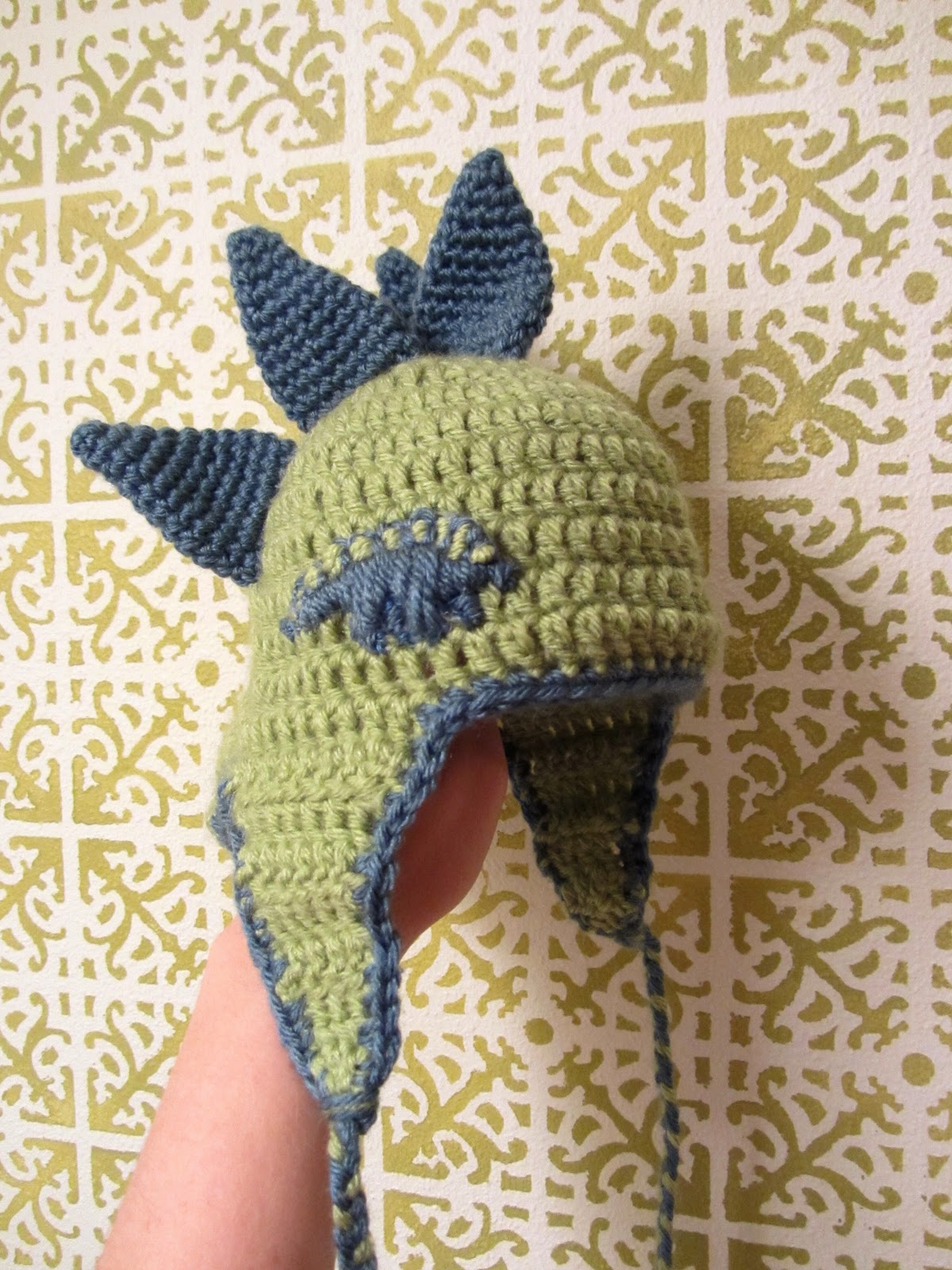 Bright And Shiny Lovely And Good Crochet Dinosaur Hat