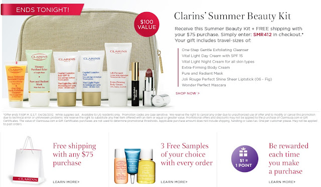 Clarins coupon code