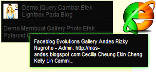 Efek Tooltip Widget Popular Post Blogger