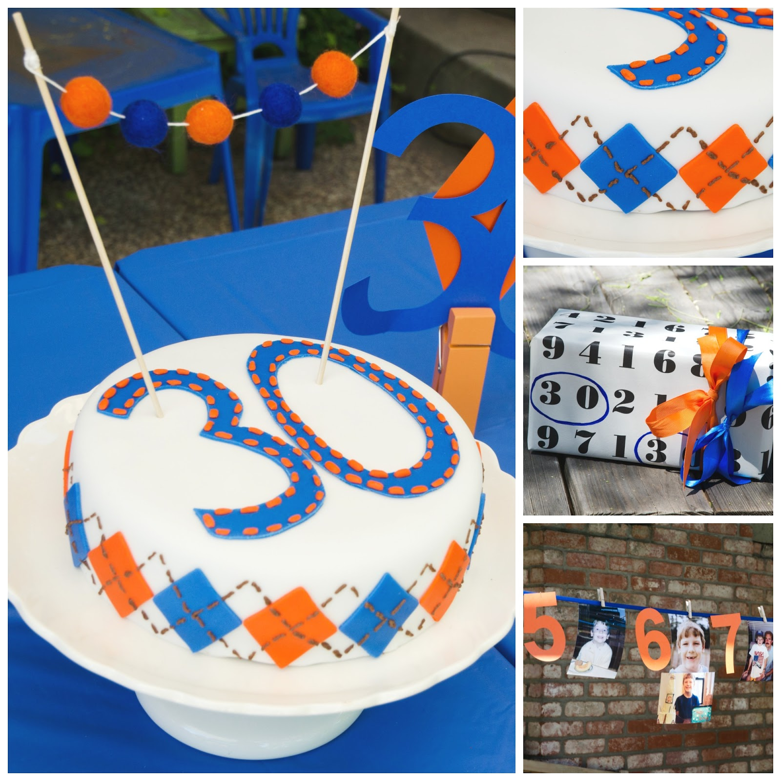 These Little Loves: A DIY Argyle 30th Birthday Surprise