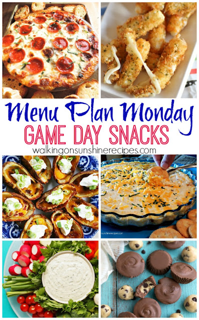 Recipes for the perfect snacks to make for your family and friends for the BIG GAME this week from Walking on Sunshine Recipes.