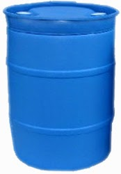 55-gallon water barrel for storing drinking water