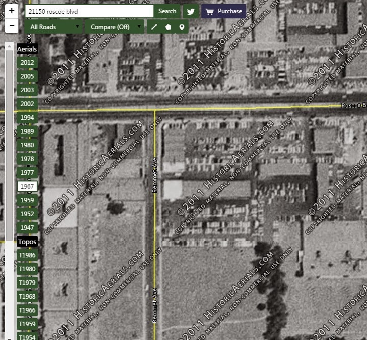 Image Courtesy Historicaerials Showing 1967 Canoga Park With Ranch Demolished And Dearlership In Place