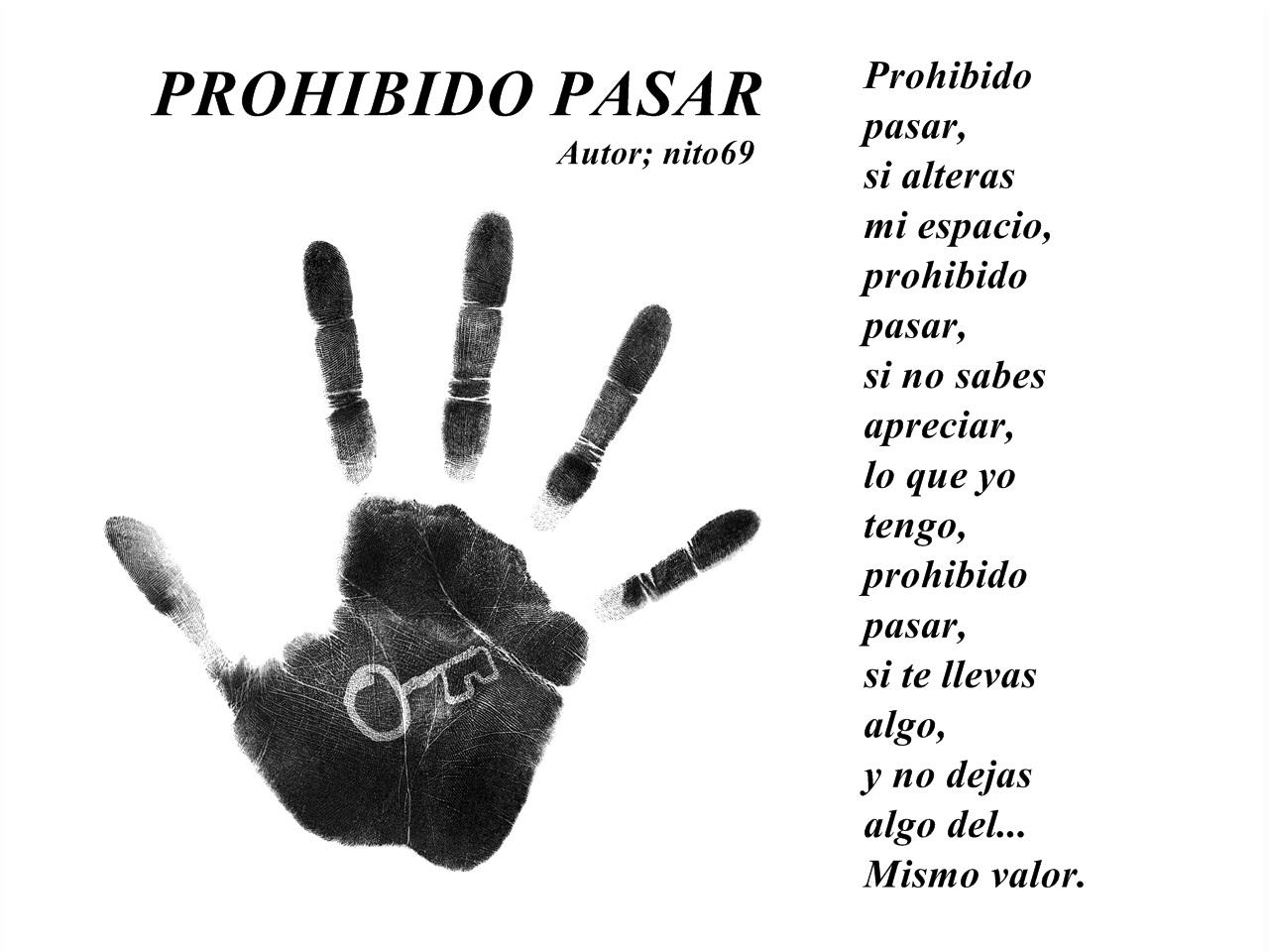 PROHIBIDO PASAR