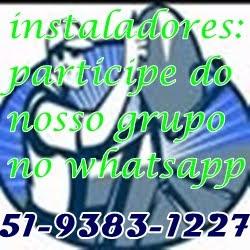 Grupo de instaladores no Whatsapp
