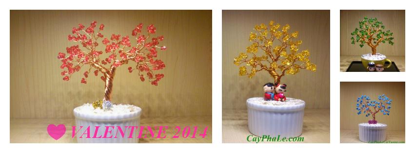 Quà Valentine cây pha lê Cát Tường