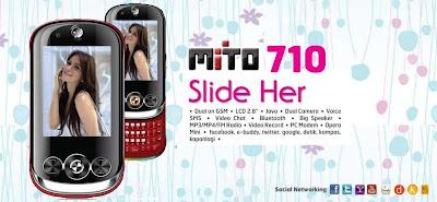Harga Spesifikasi Hp Mito 710