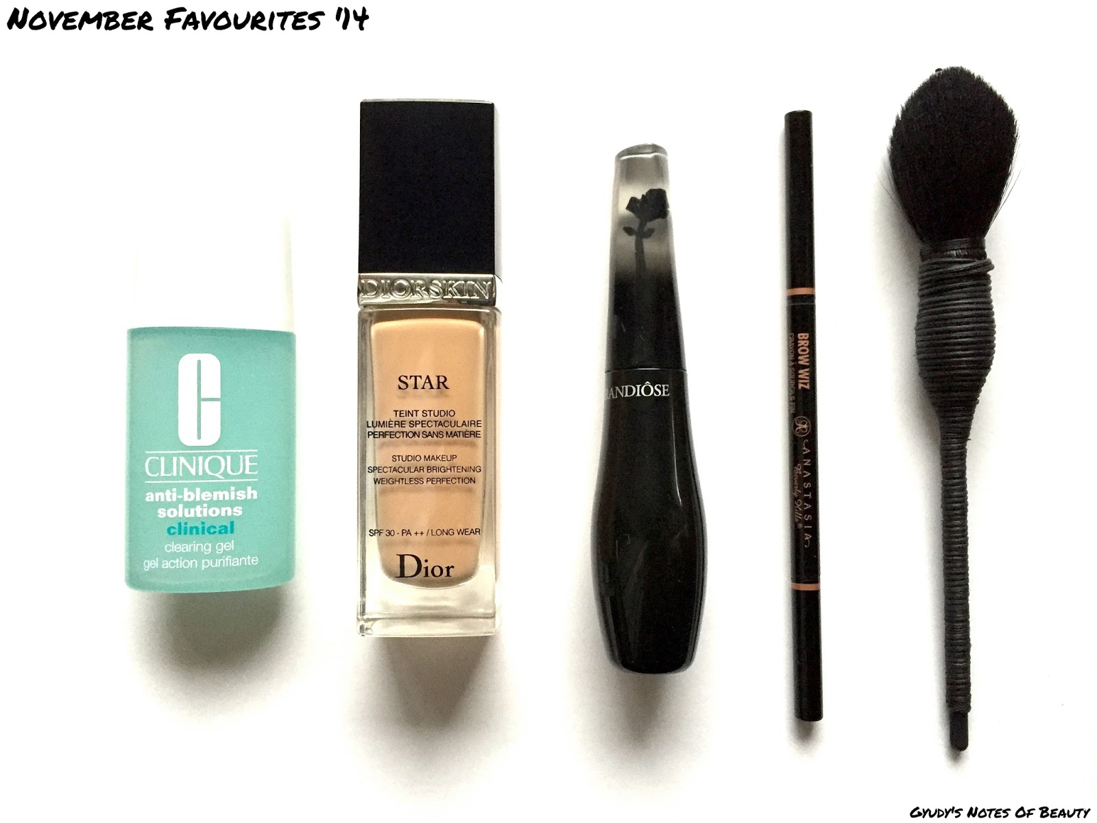 Diorskin Star Lancome Grandiose Anastasia Brow Wiz Nars Yachiyo Clinique Clearing Gel