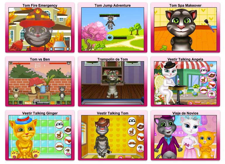 juegos de talking tom y sus amigos