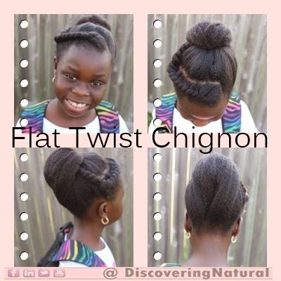 Quick Natural Hair Styles: Flat Twist Chignon