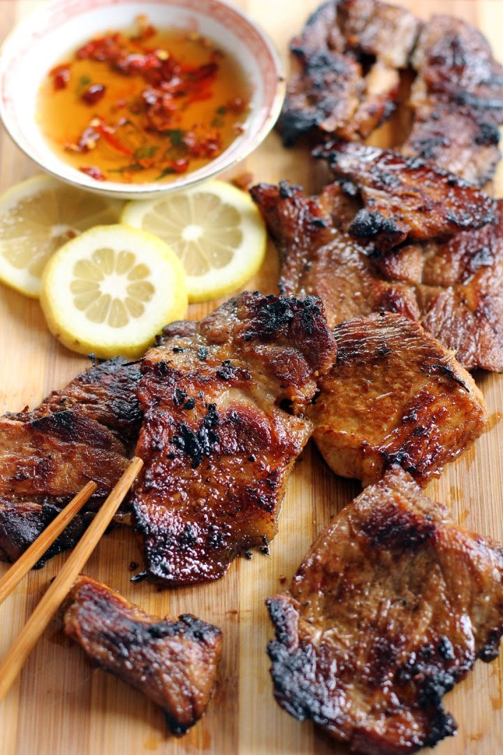 grilled lemongrass pork