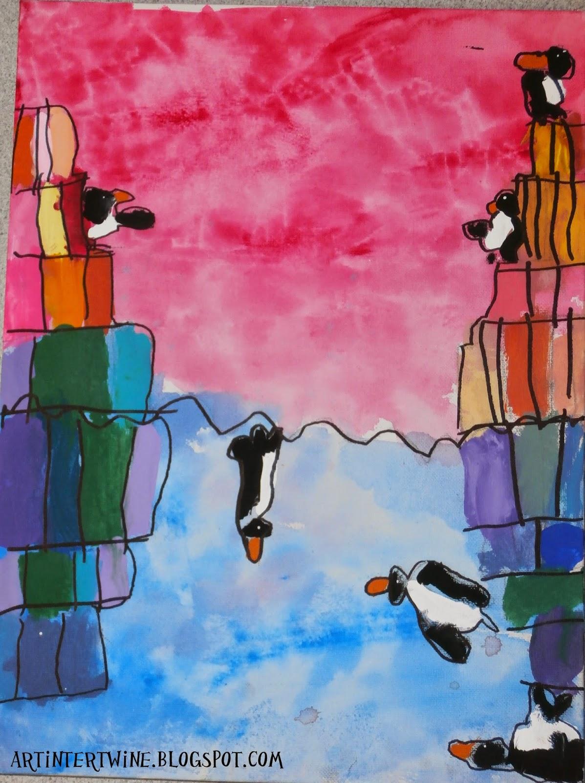 Penguin Art Lesson For Kids