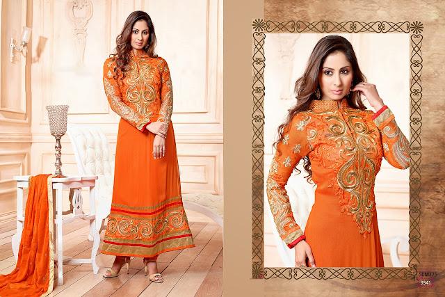 Sangeeta Ghosh Georgette Long Length Anarkali Suit