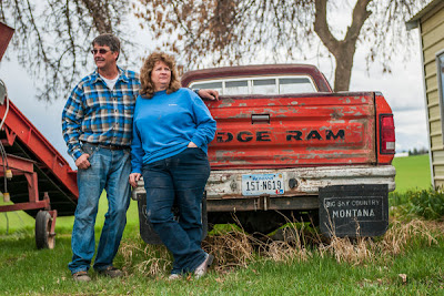 Jack and Susan Lake, who support the water bill, at their potato farm on the Flathead Reservation. Mr. Lake's family moved there from Idaho in 1934.