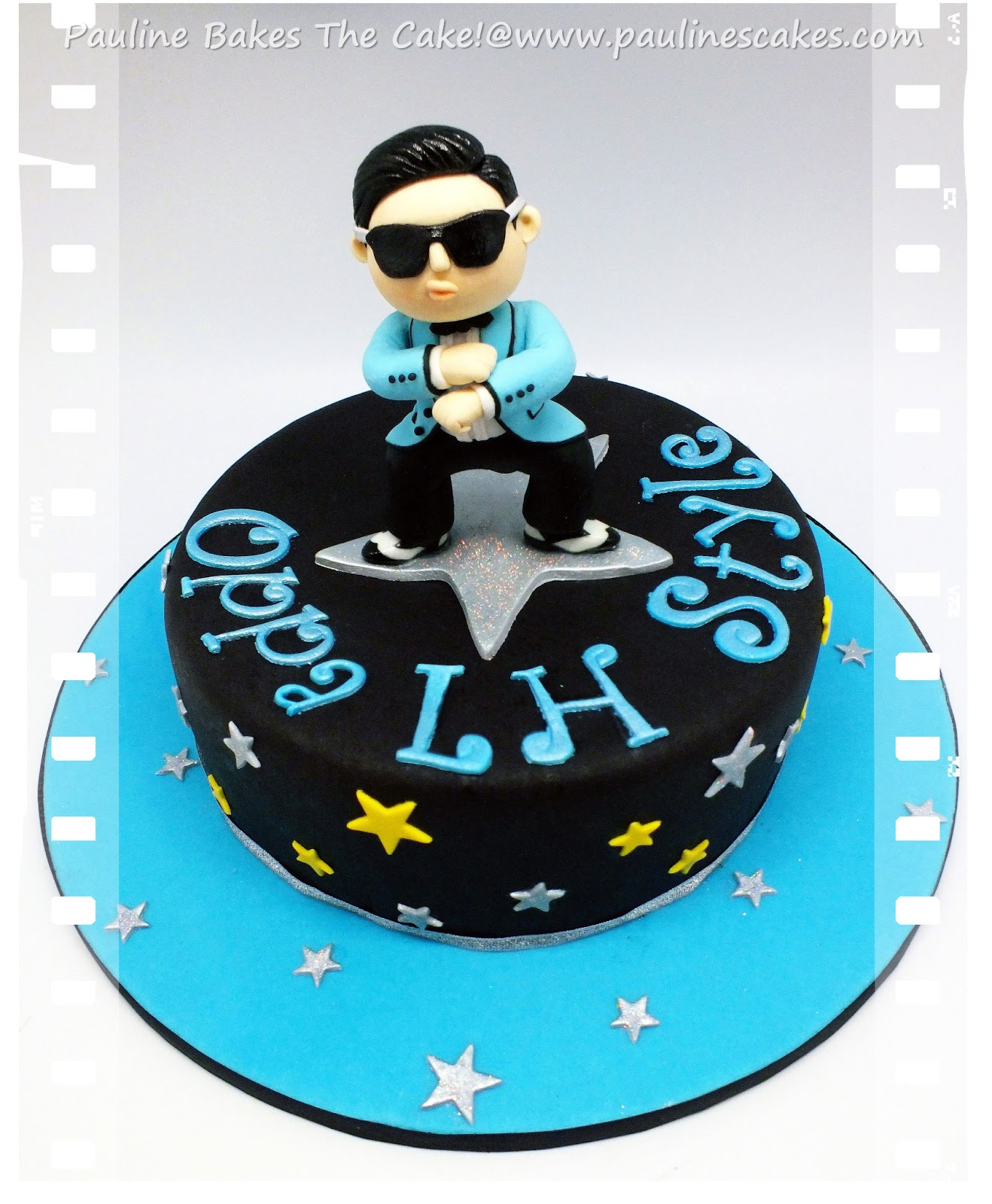 PAULINE BAKES THE CAKE PSY Gangnam Style Cake