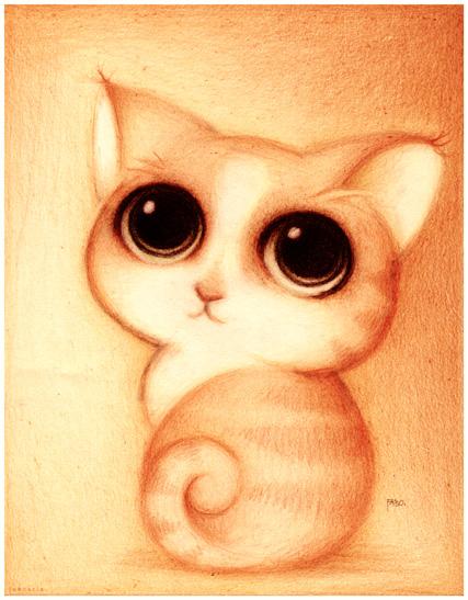 Imagenes • Gato tierno para dibujar